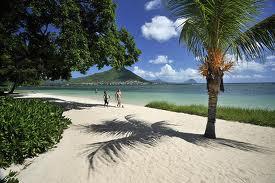 The beautiful beach at Maradiva Villas Resort & Spa.