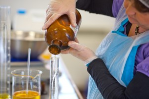 hand blending precious oils
