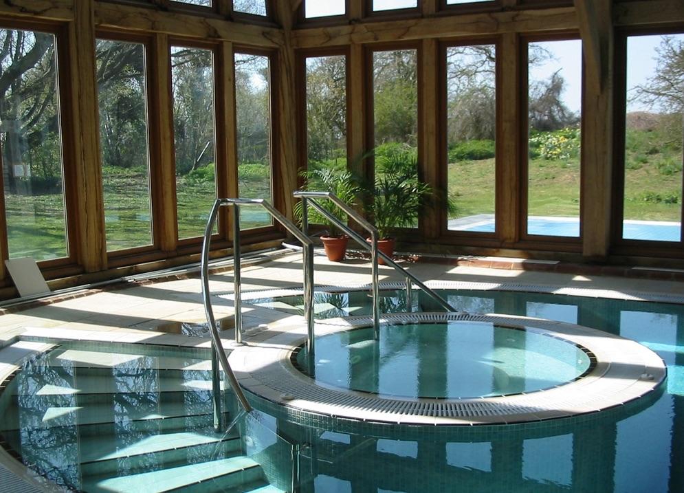 Spa pool at Bailiffscourt Hotel