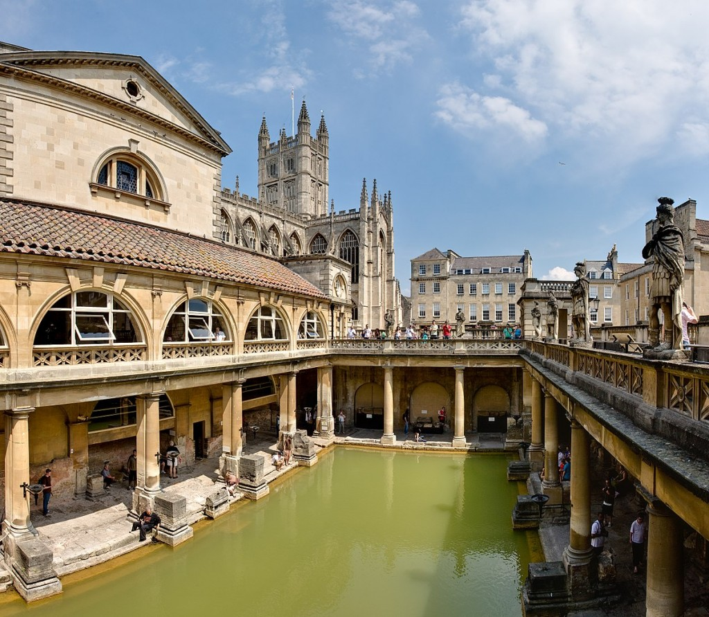 view of ancient Roman Baths, Bath