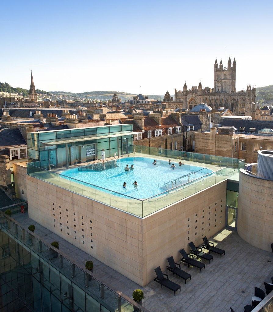 View of thermae Bath Spa