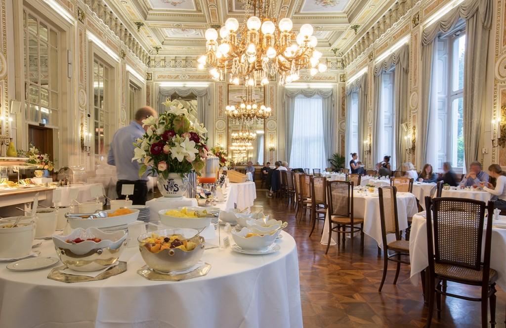 Breakfast at Villa Serbelloni, Lake Como, Italyy